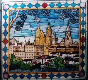 Vidriera catedral Santiago